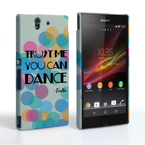 Caseflex Sony Xperia Z Vodka Dance Quote Hard Case – Green
