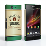 Caseflex Sony Xperia Z Irish Whiskey Quote Hard Case – Green