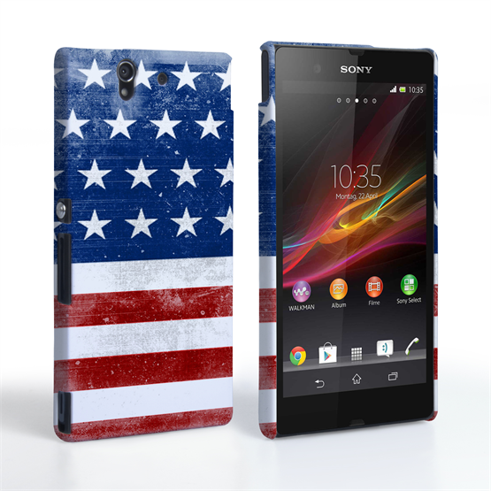 Caseflex Sony Xperia Z Retro USA Flag Case