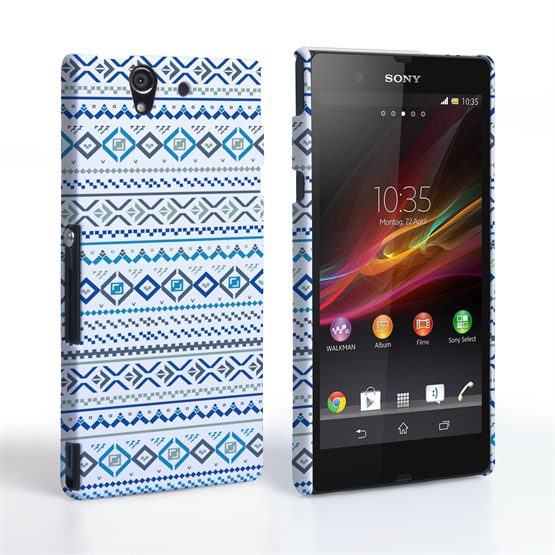 Caseflex Sony Xperia Z Fairisle Case – Blue with White Background
