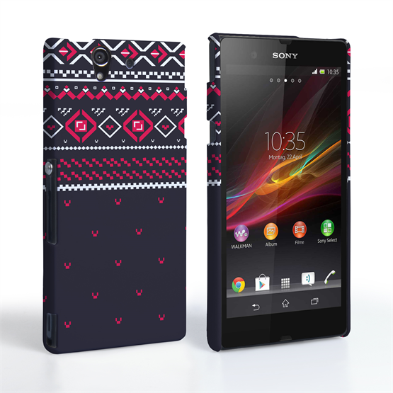 Caseflex Sony Xperia Z Fairisle Case – Grey and Red Half Pattern