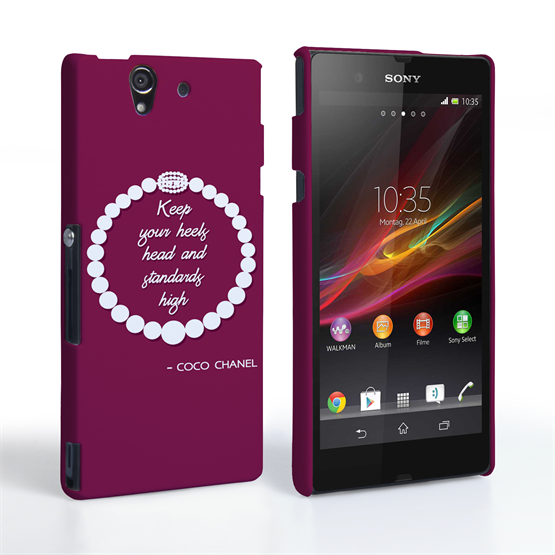 Caseflex Sony Xperia Z Chanel Diamond And Pearls Quote Case