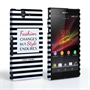 Caseflex Sony Xperia Z Chanel 'Fashion Changes' Quote Case – Black and White