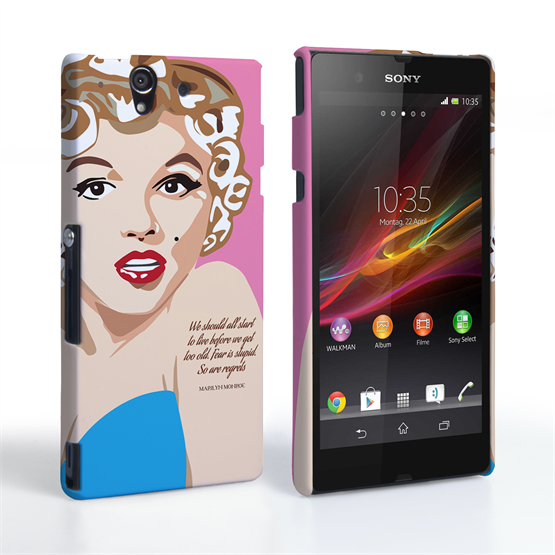 Caseflex Sony Xperia Z Marilyn Monroe 'Fear is Stupid' Quote Case