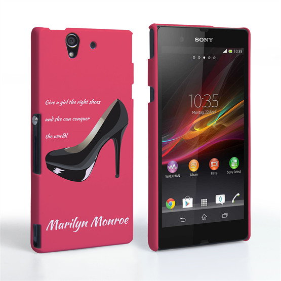 Caseflex Sony Xperia Z Marilyn Monroe 'Shoe' Quote Case