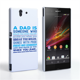 Caseflex Definition of a Dad Quote Sony Xperia Z Case