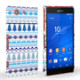Caseflex Sony Xperia Z3 Compact Fairisle Christmas Tree Hard  - White / Blue