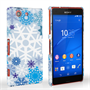 Caseflex Sony Xperia Z3 Compact Winter Christmas Snowflake Hard Case - White / Blue