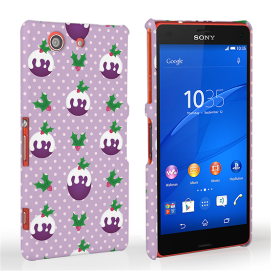 Caseflex Sony Xperia Z3 Compact Christmas Pudding Hard Case - Purple