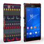 Caseflex Sony Xperia Z3 Compact Reindeer Christmas Jumper Hard Case - Navy / Yellow