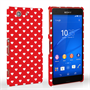 Caseflex Sony Xperia Z3 Compact Cute Hearts Case - Red