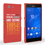 Caseflex Sony Xperia Z3 Compact Single, Double, Triple Quote Hard Case – Red