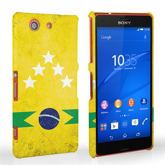 Caseflex Sony Xperia Z3 Compact Brazil 5-Star Retro World Cup Case