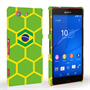 Caseflex Sony Xperia Z3 Compact Brazil Football Pattern World Cup Case