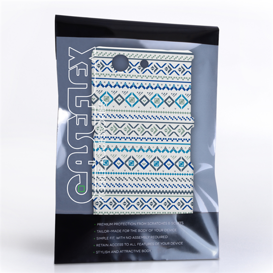 Caseflex Sony Xperia Z3 Compact Fairisle Case – Blue with White Background