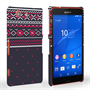 Caseflex Sony Xperia Z3 Compact Fairisle Case – Grey and Red Half Pattern