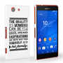 Caseflex Father Family Quote Sony Xperia Z3 Compact Case