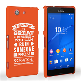 Caseflex Fatherhood Funny Quote Sony Xperia Z3 Compact Case – Red
