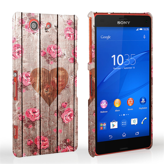 Caseflex Sony Xperia Z3 Compact Vintage Wooden Heart Case