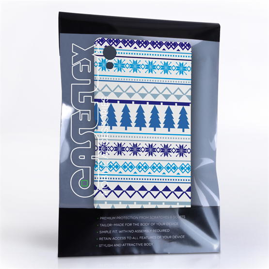 Caseflex Sony Xperia Z3+ Fairisle Christmas Tree Hard  - White / Blue