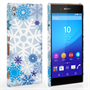 Caseflex Sony Xperia Z3+ Winter Christmas Snowflake Hard Case - White / Blue