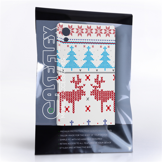 Caseflex Sony Xperia Z3+ Christmas Heart Reindeer Tree Jumper Hard Case