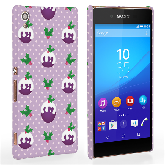 Caseflex Sony Xperia Z3+ Christmas Pudding Hard Case - Purple