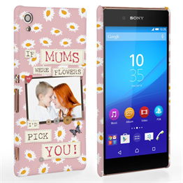 Caseflex Sony Xperia Z3 Plus 'If Mums Were Flowers' Personalised Hard Case – Pink