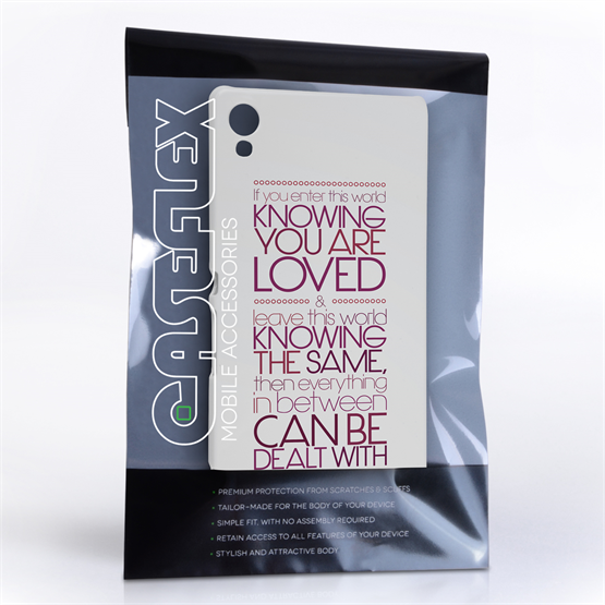 Caseflex Sony Xperia Z3 Plus Michael Jackson Quote Case