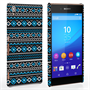 Caseflex Sony Xperia Z3+ Fairisle Case – Grey with Blue Background