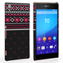 Caseflex Sony Xperia Z3+ Fairisle Case – Grey and Red Half Pattern