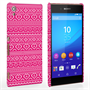 Caseflex Sony Xperia Z3+ Fairisle Case – Pink and White