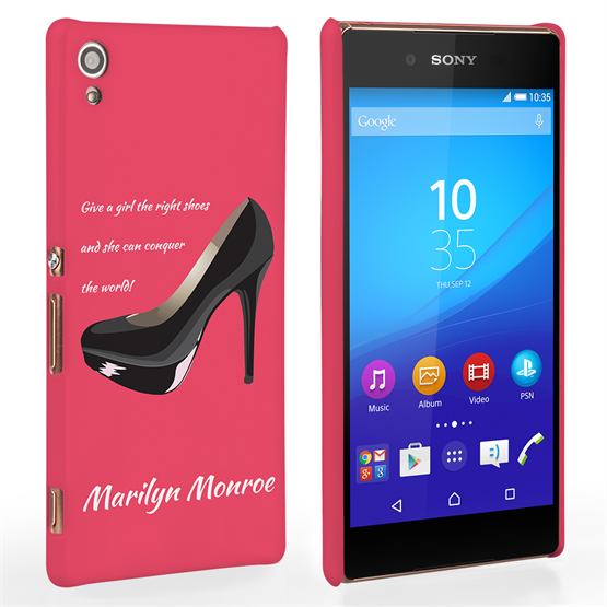 Caseflex Sony Xperia Z3 Plus Marilyn Monroe 'Shoe' Quote Case