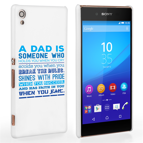 Caseflex Definition of a Dad Quote Sony Xperia Z3+ Case