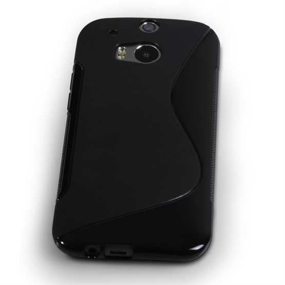 Caseflex HTC One M8 Silicone Gel S-Line Case - Black