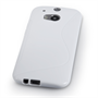 Caseflex HTC One M8 Silicone Gel S-Line Case - White