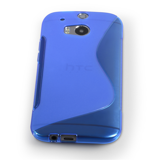 Caseflex HTC One M8 Silicone Gel S-Line Case - Blue