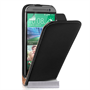 Caseflex HTC One M8 Real Leather Flip Case - Black