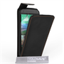 Caseflex HTC One Mini 2 Real Leather Flip Case - Black