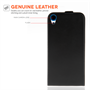 Caseflex HTC Desire 820 Real Leather Flip Case - Black