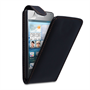 Caseflex Huawei Ascend Y300 Real Leather Flip Case - Black