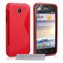 Caseflex Huawei Ascend Y330 S-Line Gel Case - Red