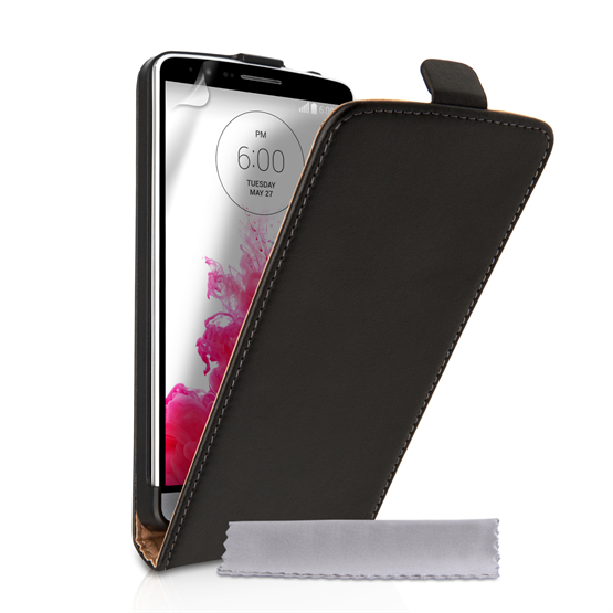 Caseflex LG G3 Real Leather Flip Case - Black
