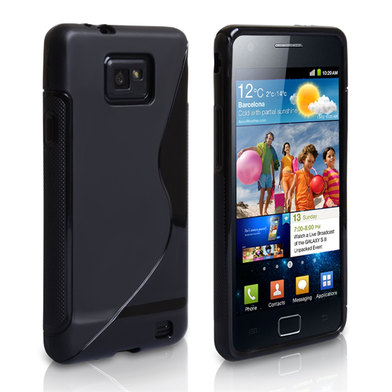 Caseflex Samsung Galaxy S2 S-Line Gel Case - Black
