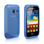 Caseflex Samsung Galaxy Ace Plus S-Line Silicone Case - Blue