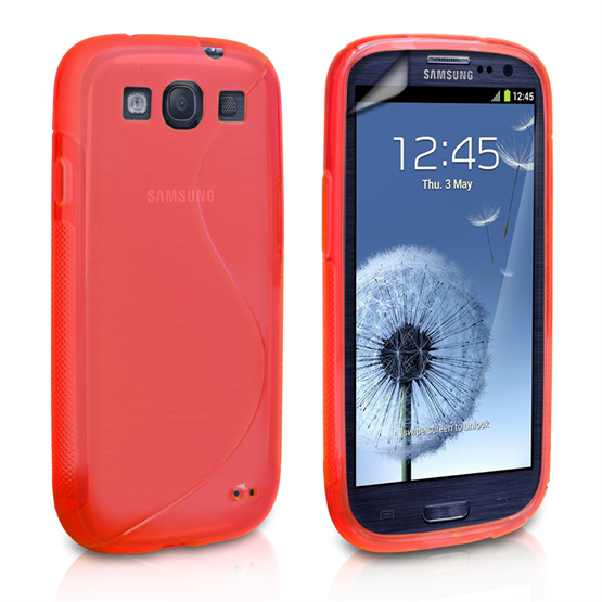 Caseflex Samsung Galaxy S3 S-Line Gel Case - Red