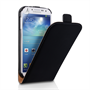 Caseflex Samsung Galaxy S4 Real Leather Flip Case - Black