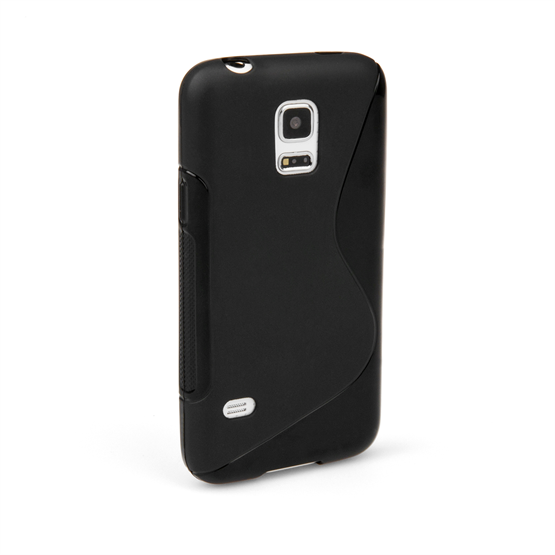 Caseflex Samsung Galaxy S5 Mini Silicone Gel S-Line Case - Black