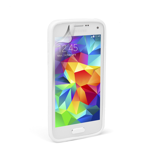 Caseflex Samsung Galaxy S5 Mini Silicone Gel S-Line Case - White