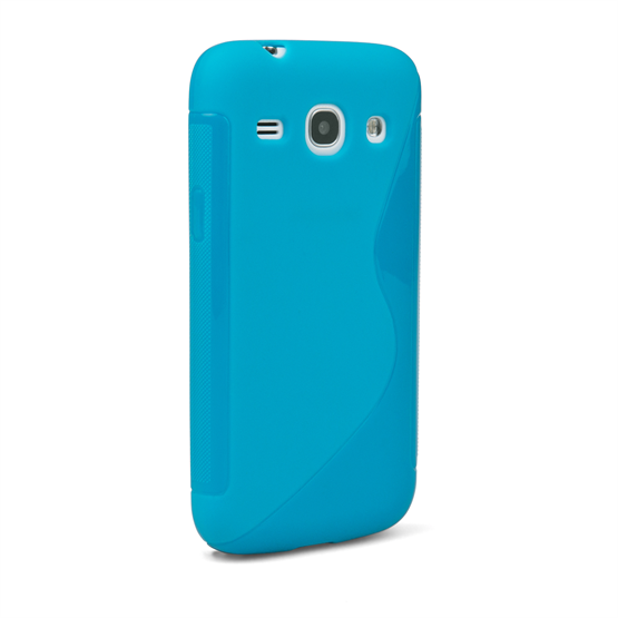 Caseflex Samsung Galaxy Core Plus Silicone Gel S-Line Case - Blue